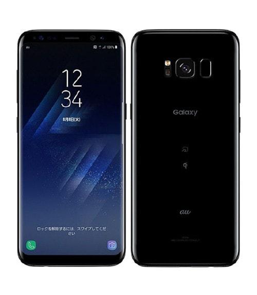 【中古】【安心保証】 GALAXY S8 SCV36[64GB] au ミッドナイトブラック
