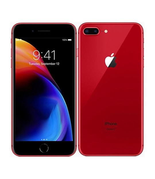 【中古】【安心保証】 iPhone8Plus[64GB] SIMロック解除 au レッド