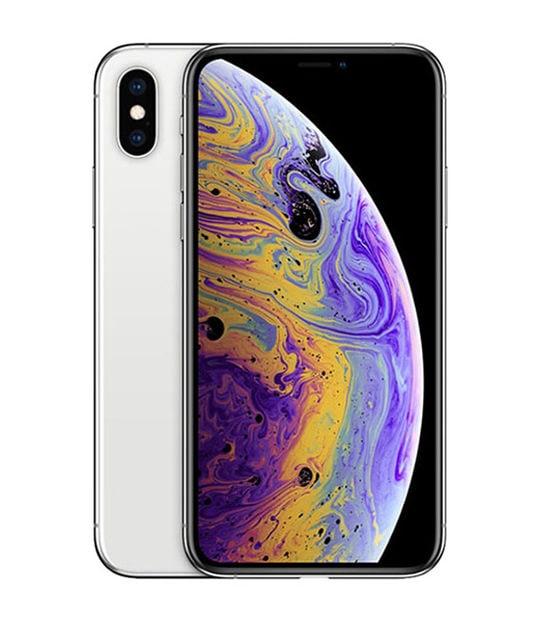 【中古】【安心保証】 iPhoneXS[64GB] SIMフリー シルバー