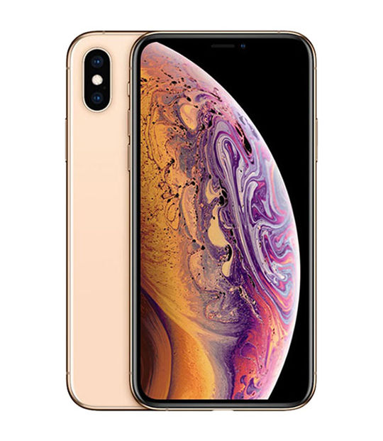 【中古】【安心保証】 iPhoneXS[256GB] SIMフリー ゴールド