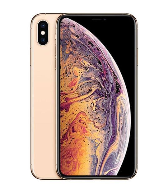 【中古】【安心保証】 iPhoneXSMax[64GB] SIMロック解除 au ゴールド