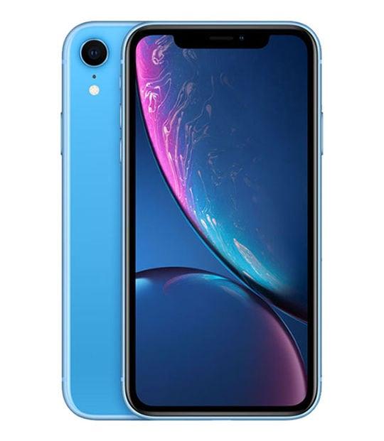 【中古】【安心保証】 iPhoneXR[256GB] SIMフリー ブルー