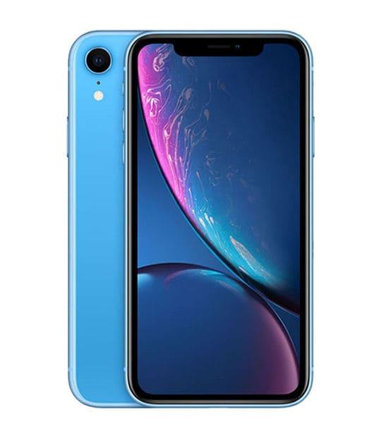 【中古】【安心保証】 iPhoneXR[256GB] SIMロック解除 au ブルー
