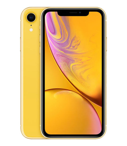 【中古】【安心保証】 iPhoneXR[64GB] au MT082J イエロー