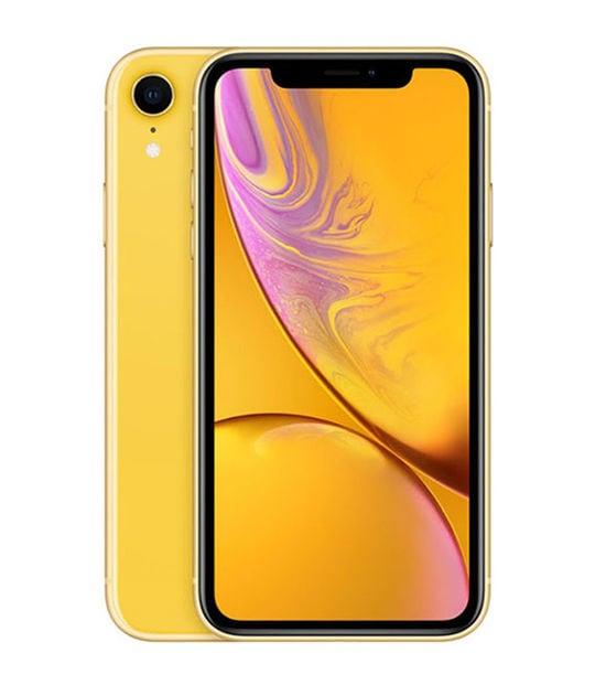 【中古】【安心保証】 iPhoneXR[64GB] SIMフリー イエロー