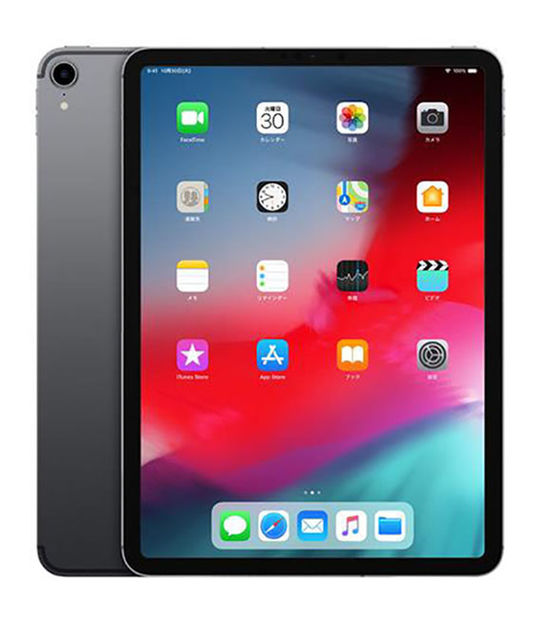 【中古】【安心保証】 iPadPro 11インチ 第1世代[512GB] セルラー au スペースグレイ