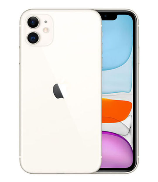 【中古】【安心保証】 iPhone11[64GB] au MWLU2J ホワイト