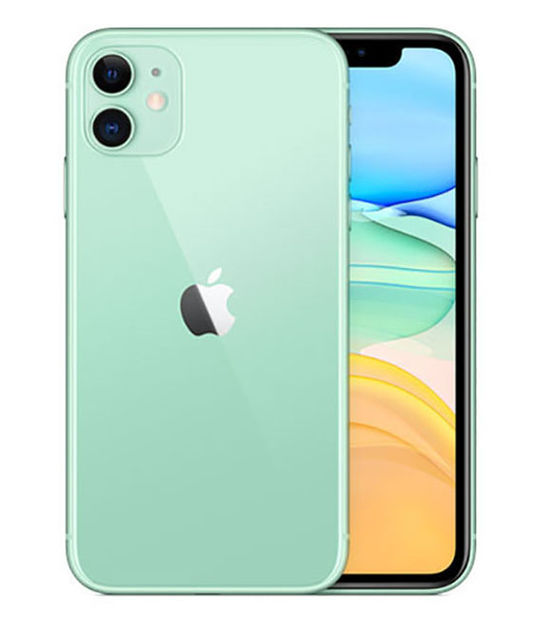 【中古】【安心保証】 iPhone11[64GB] au MWLY2J グリーン