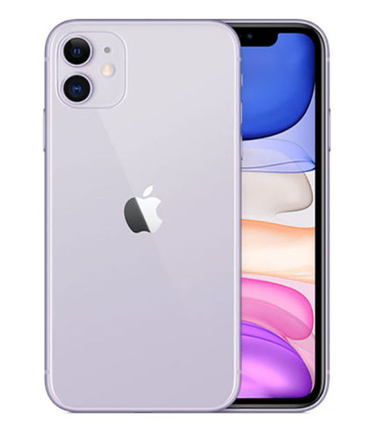 【中古】【安心保証】 iPhone11[128GB] SIMロック解除 au パープル
