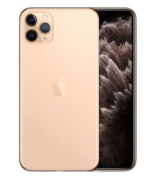 【中古】【安心保証】 iPhone11 Pro Max[512GB] au MWHQ2J ゴールド