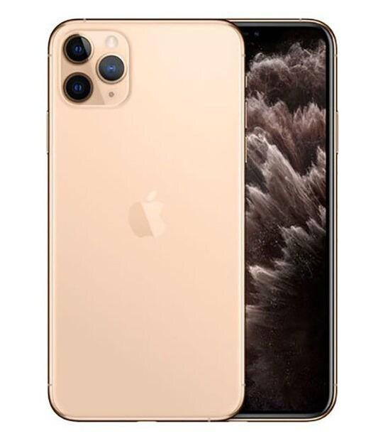 【中古】【安心保証】 iPhone11 Pro Max[512GB] SIMフリー ゴールド
