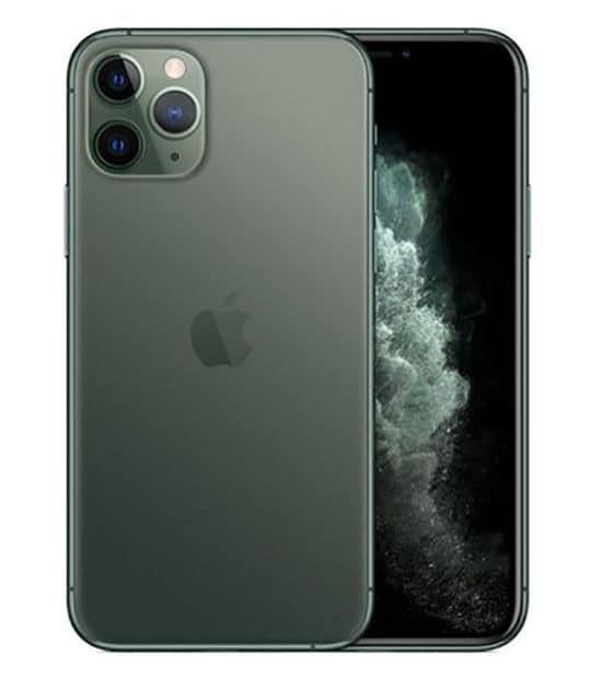 【中古】【安心保証】 iPhone11 Pro[64GB] SIMロック解除 au ミッドナイトグリーン