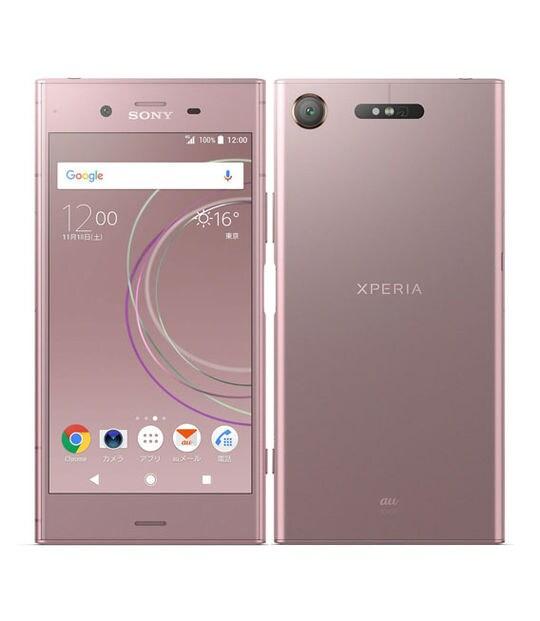 【中古】【安心保証】 Xperia XZ1 SOV36[64GB] SIMロック解除 au ヴィーナスピンク