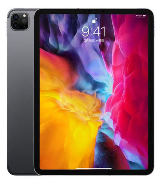 【中古】【安心保証】 iPadPro 11インチ 第2世代[256GB] セルラー au スペースグレイ
