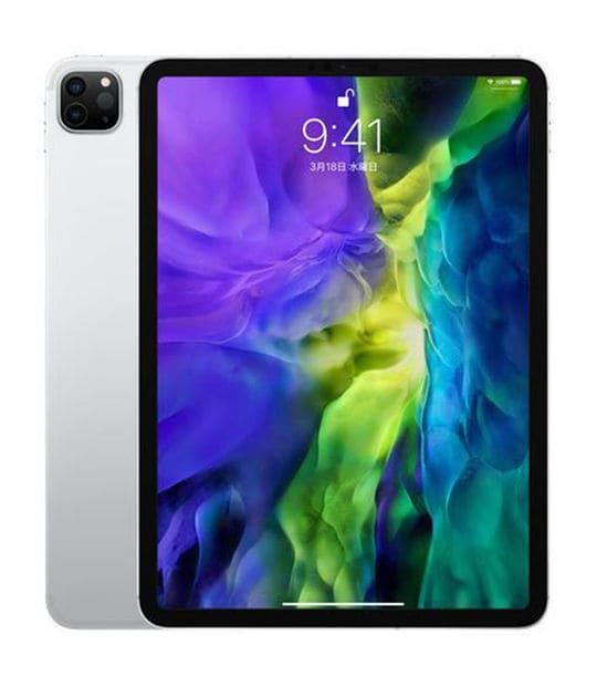 【中古】【安心保証】 iPadPro 11インチ 第2世代[512GB] SIMフリー シルバー