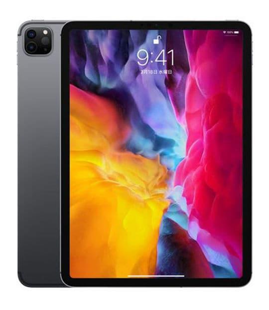 【中古】【安心保証】 iPadPro 11インチ 第2世代[512GB] SIMフリー スペースグレイ