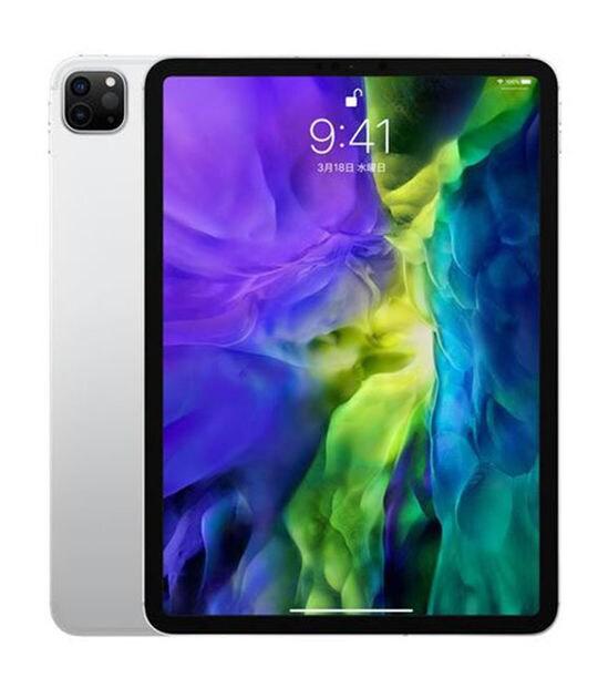 【中古】【安心保証】 iPadPro 11インチ 第2世代[1TB] SIMフリー シルバー