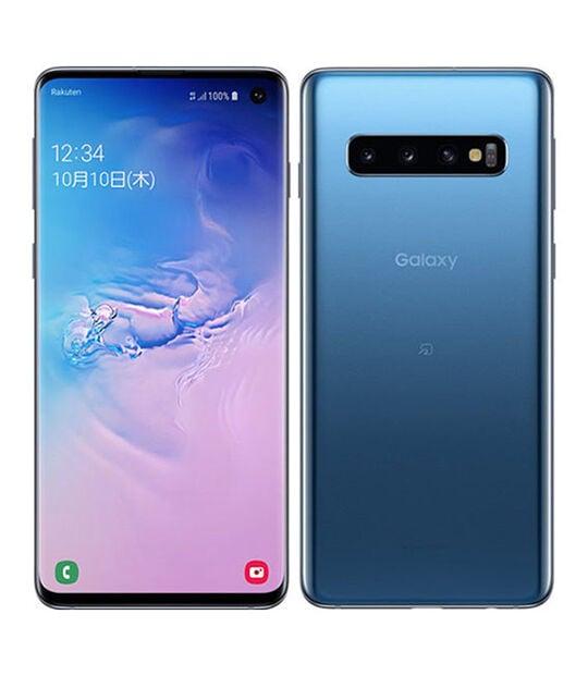 【中古】【安心保証】 楽天モバイル Galaxy S10 ブルー