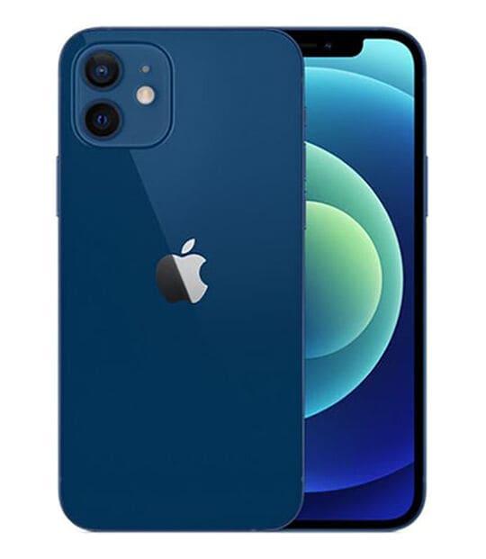 【中古】【安心保証】 iPhone12[64GB] au MGHR3J ブルー