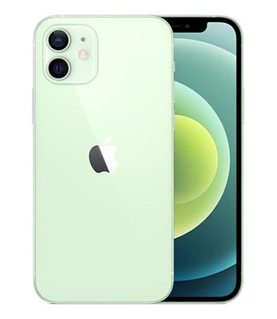 【中古】【安心保証】 iPhone12[64GB] au MGHT3J グリーン