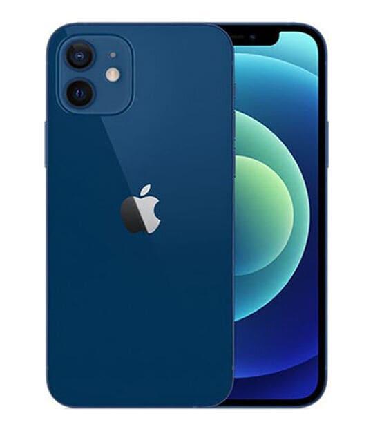 【中古】【安心保証】 iPhone12[128GB] au MGHX3J ブルー