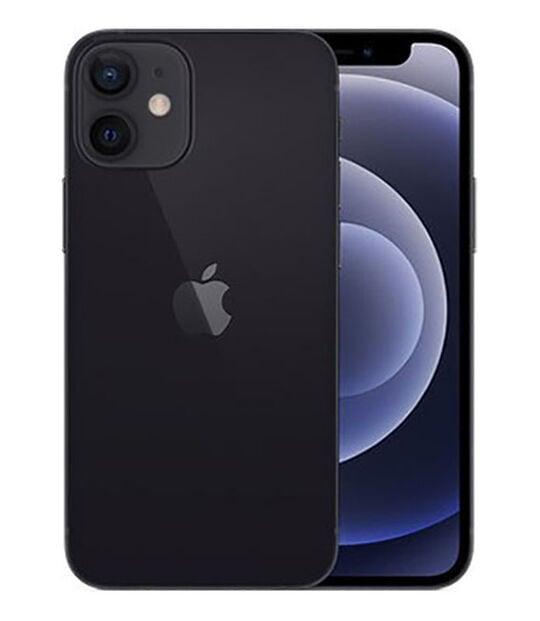 【中古】【安心保証】 iPhone12mini[128GB] au MGDJ3J ブラック