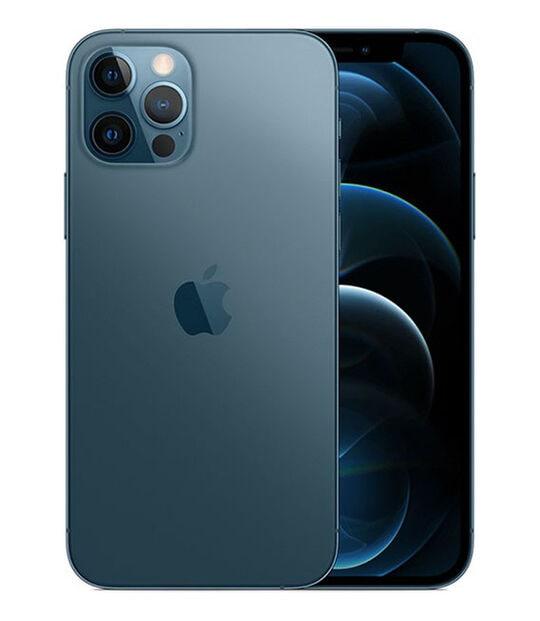 【中古】【安心保証】 iPhone12Pro[256GB] au MGMD3J パシフィックブルー