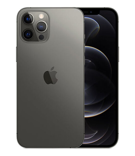 【中古】【安心保証】 iPhone12ProMax[256GB] au MGCY3J グラファイト