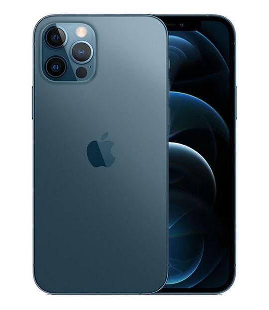 【中古】【安心保証】 iPhone12Pro[128GB] SIMフリー パシフィックブルー