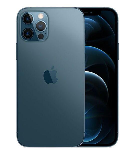 【中古】【安心保証】 iPhone12Pro[256GB] SIMフリー パシフィックブルー