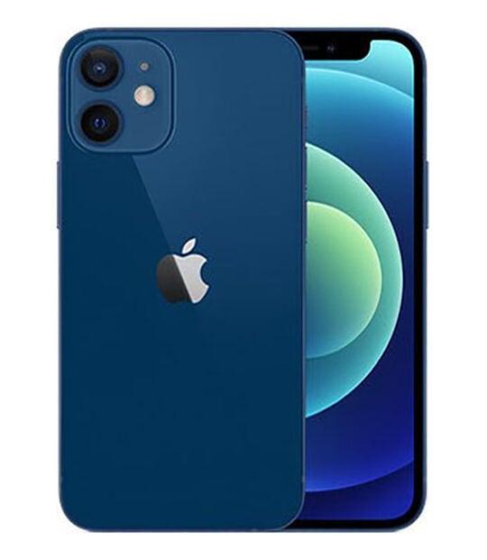 【中古】【安心保証】 iPhone12mini[256GB] SIMロック解除 docomo ブルー