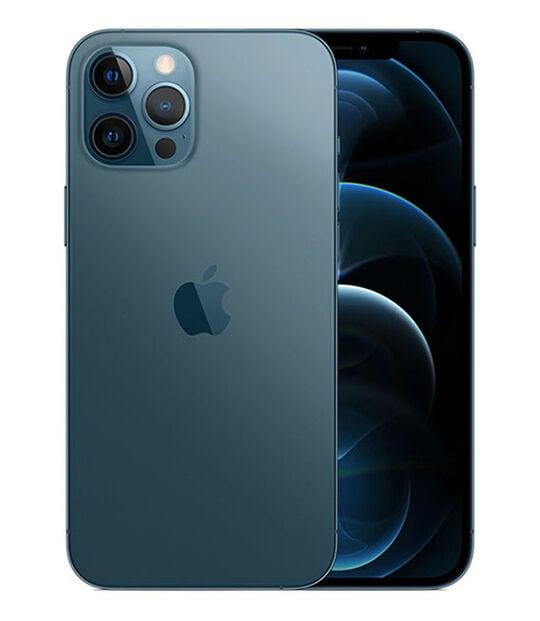【中古】【安心保証】 iPhone12ProMax[128GB] SIMロック解除 au パシフィックブルー