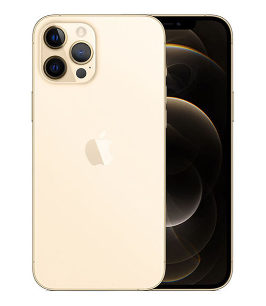 【中古】【安心保証】 iPhone12ProMax[256GB] SIMロック解除 au ゴールド