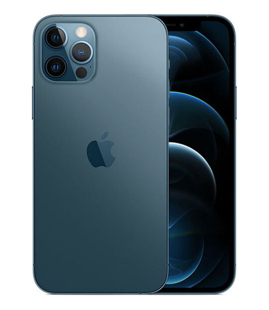 【中古】【安心保証】 iPhone12Pro[128GB] SIMロック解除 SoftBank パシフィックブルー
