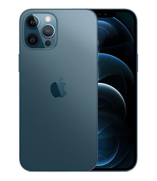 【中古】【安心保証】 iPhone12ProMax[256GB] SIMロック解除 SoftBank パシフィックブルー