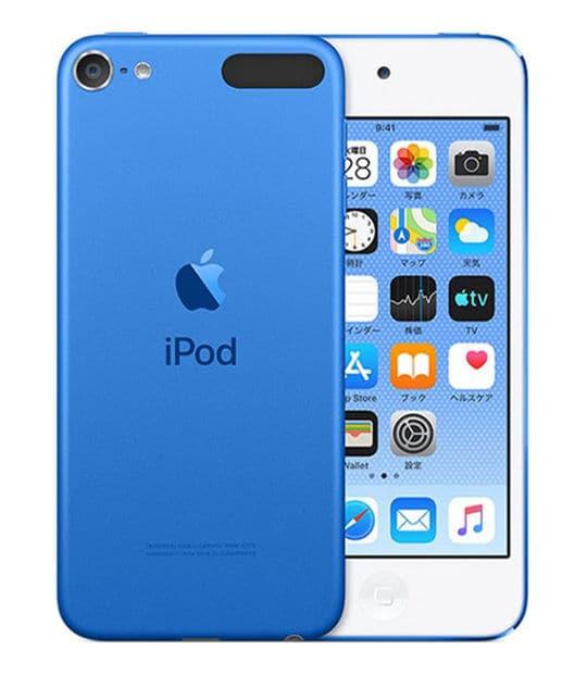 【中古】【安心保証】 DAP>iPodtouch7[128GB](ブルー)MVJ32J