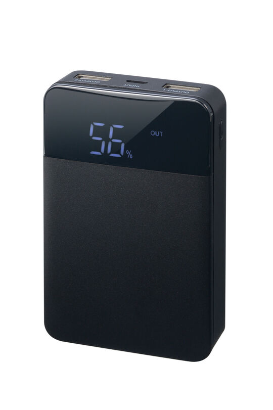 【新品】グリーンハウス 10000mAhモバイルバッテリー ブラック/グリーンハウス