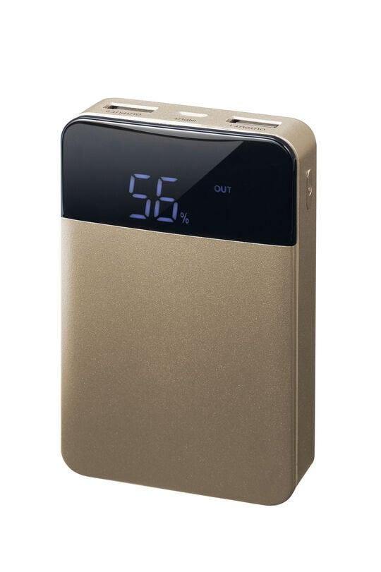 【新品】グリーンハウス 10000mAhモバイルバッテリー ゴールド/グリーンハウス