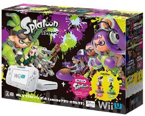 【中古・箱説なし・付属品なし・傷あり】Wii U スプラトゥーン セット(amiibo アオリ・ホタル付き)