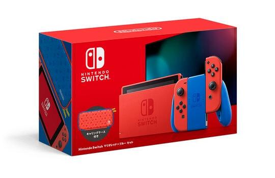 【中古・箱説あり・付属品あり・傷なし】Nintendo Switch マリオレッド×ブルー セット