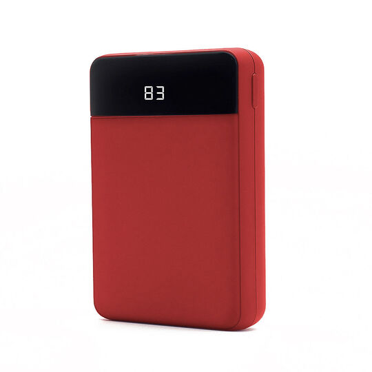 【新品】グリーンハウス コンパクトモバイルバッテリー10000mAhレッド/グリーンハウス