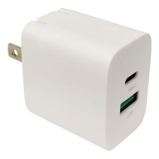 【新品】HIDISC PD対応2ポートAC充電器 GO−PDUS2P20WH/HI-DISC