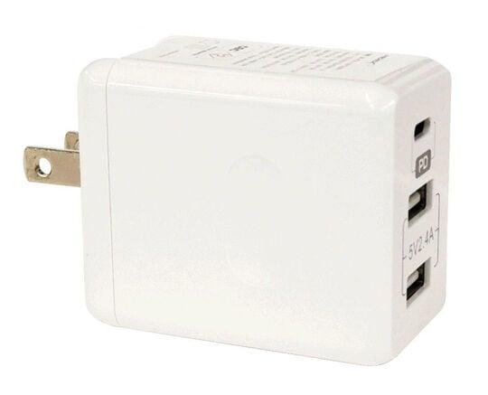 【新品】HIDISC PD対応3ポートAC充電器 GO−PDC1U2P32WH/HI-DISC
