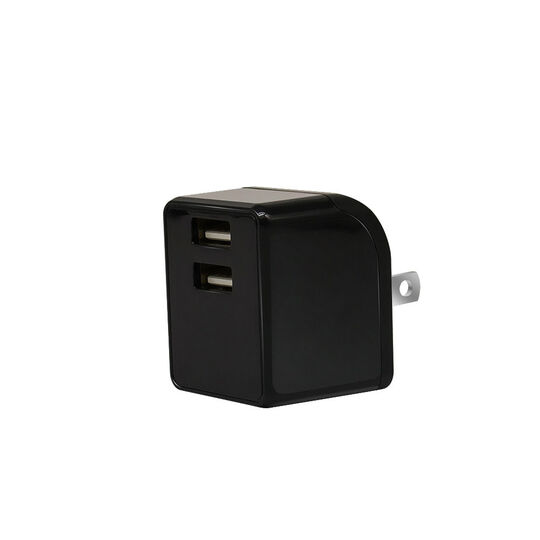【新品】【GR】2ポートAC充電器 2.4A 2ACC01−24 BK/ゲオ