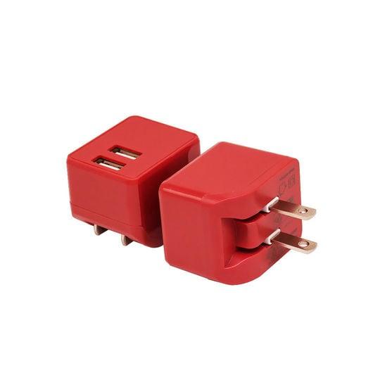 【新品】【GR】2ポートAC充電器 2.4A 2ACC01-24 RE/ゲオ