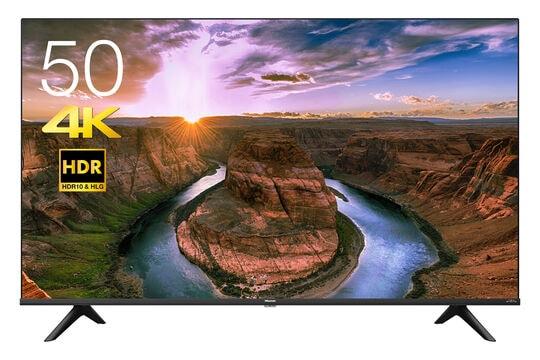【新品】ハイセンス 4Kチューナー内蔵/HDR対応50V型液晶テレビ 50E65G/ハイセンス